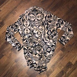 Tribal print cardigan
